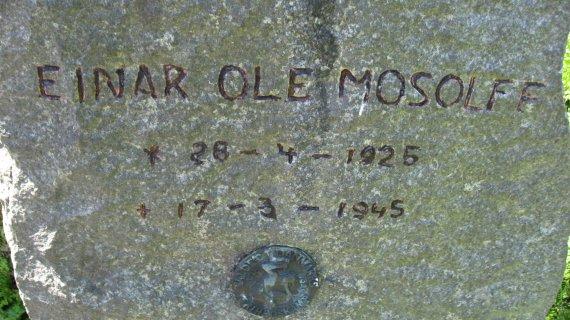 Gravsted for Einar Ole Mosolff