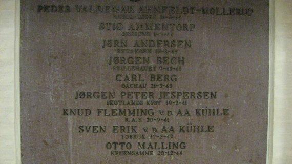 Faldne 2. Verdenskrig, Birkerød Gymnasium