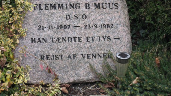 Gravsted for Flemming B. Muus, Søllerød Kirkegård