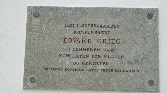 mindeplade for Grieg