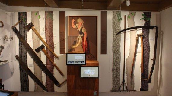 Jordrummet på Mothsgårdens udstilling
