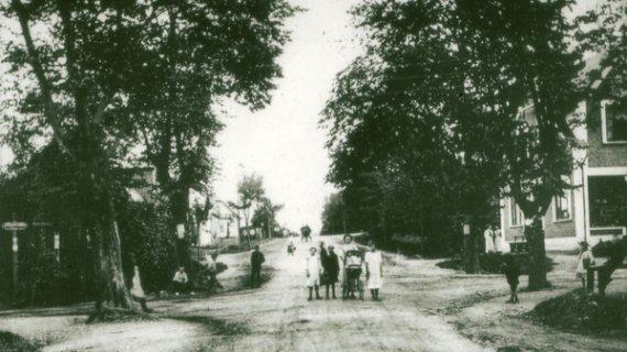 Kongevejen gennem Birkerød o 1910