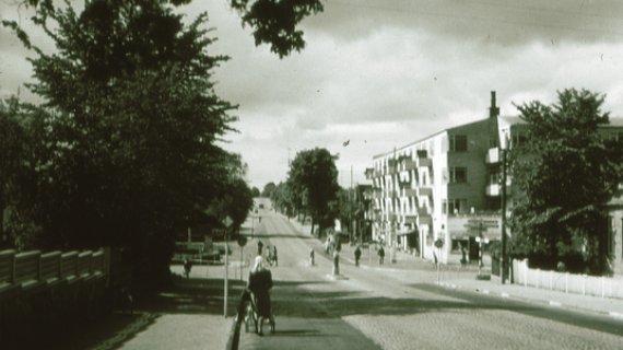 Kongevejen gennem Birkerød o 1950