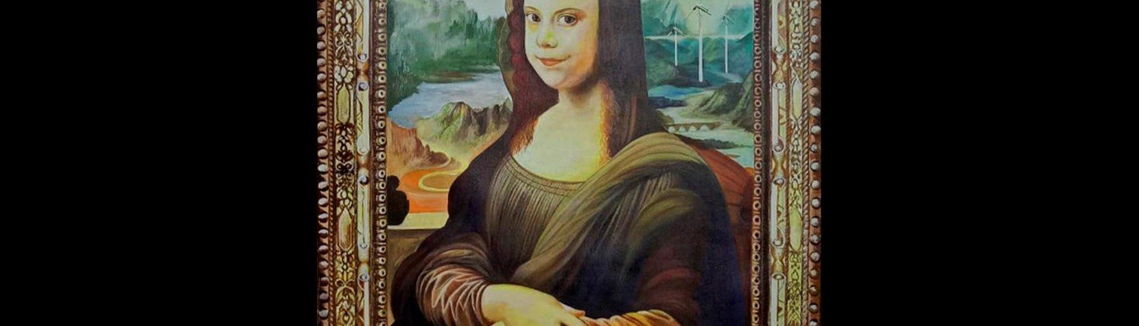 Greta Turnberg malet som Monalisa