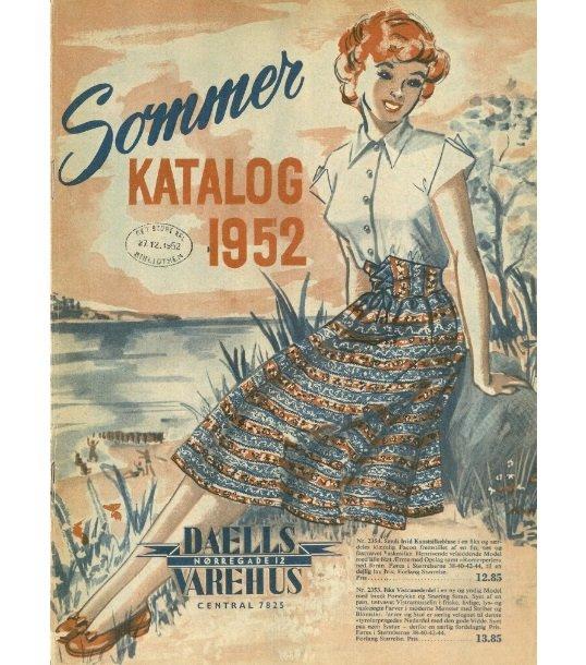 Forsiden af Daells Varehus sommerkatalog fra 1952