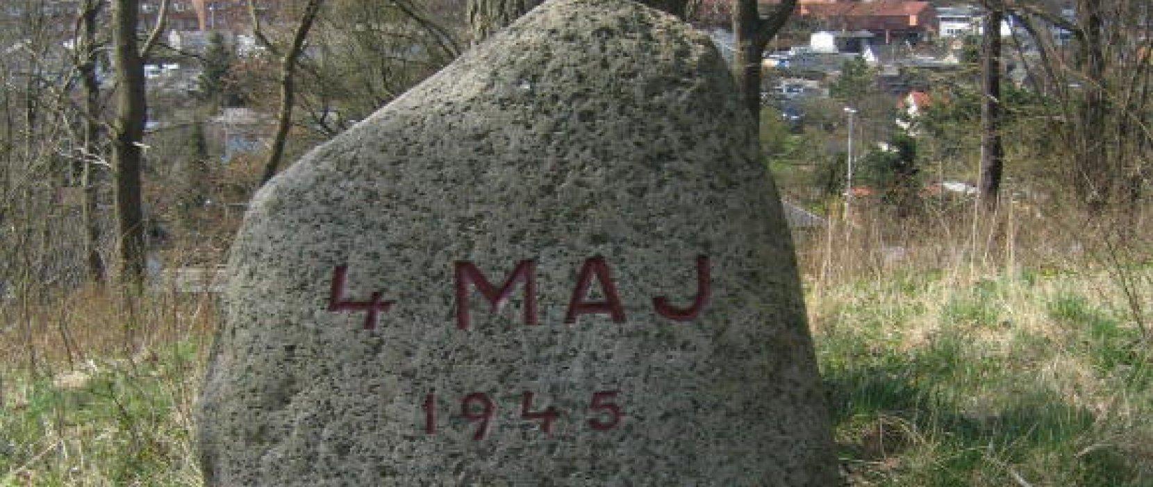 mindetavle for 4. maj 1945