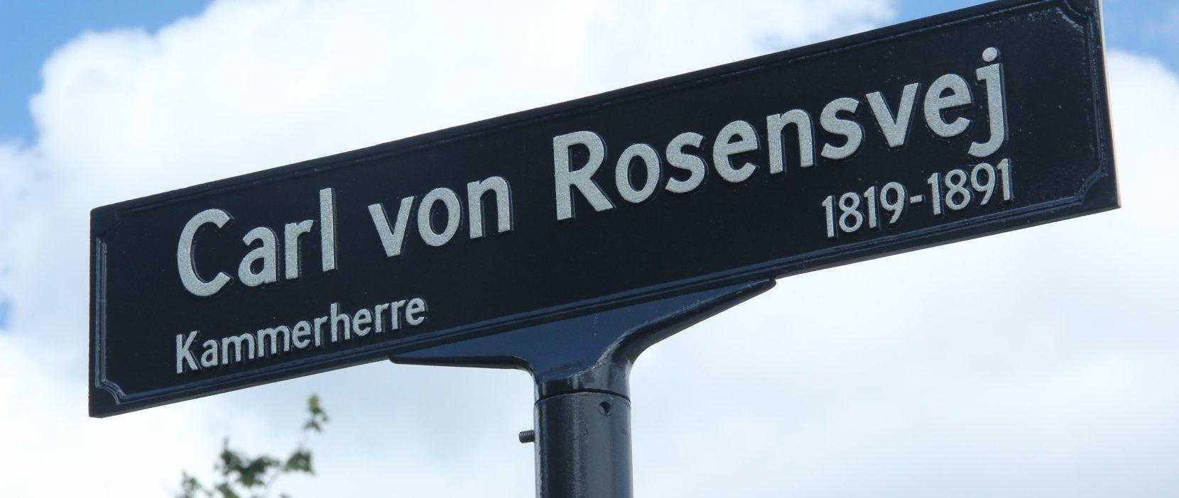 skilt med Carl von Rosensvej