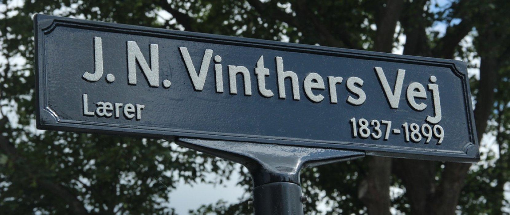 skilt med J. N. Vinthers Vej