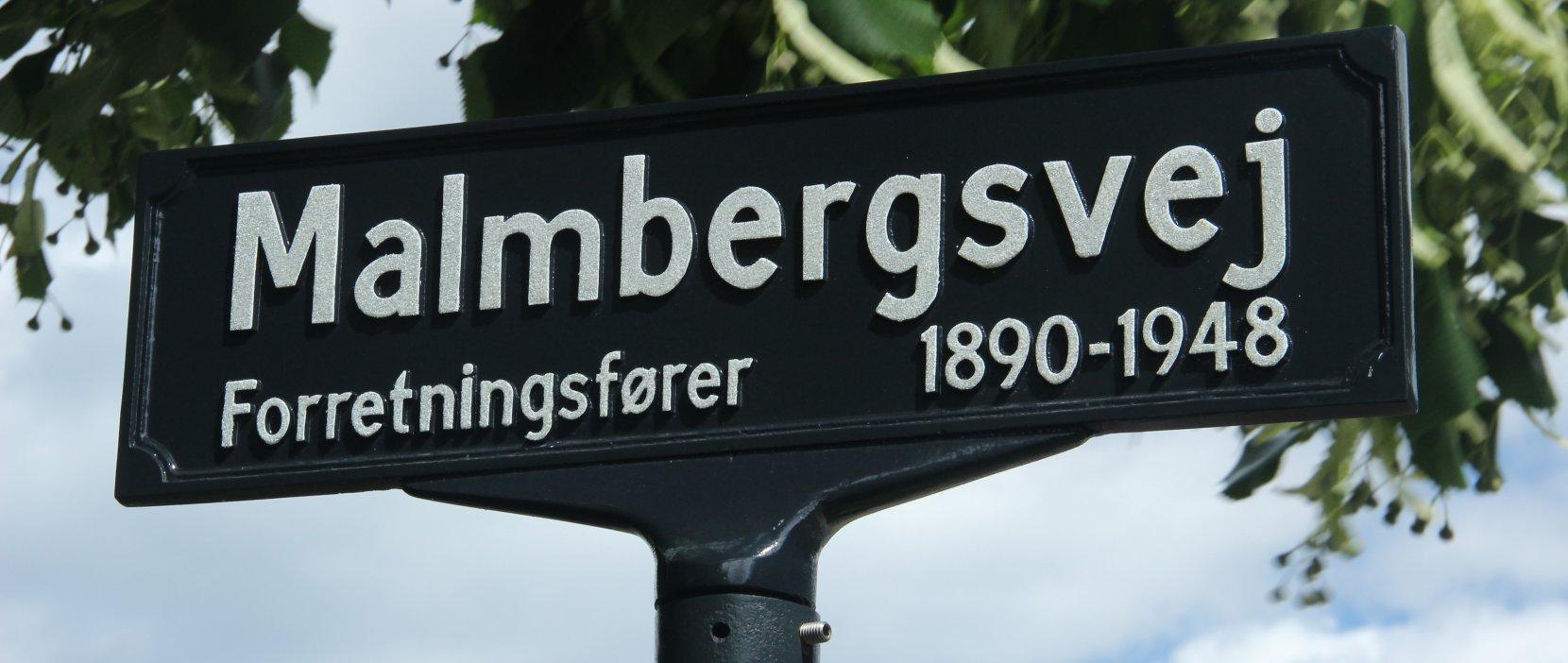 skilt med Malmbergsvej