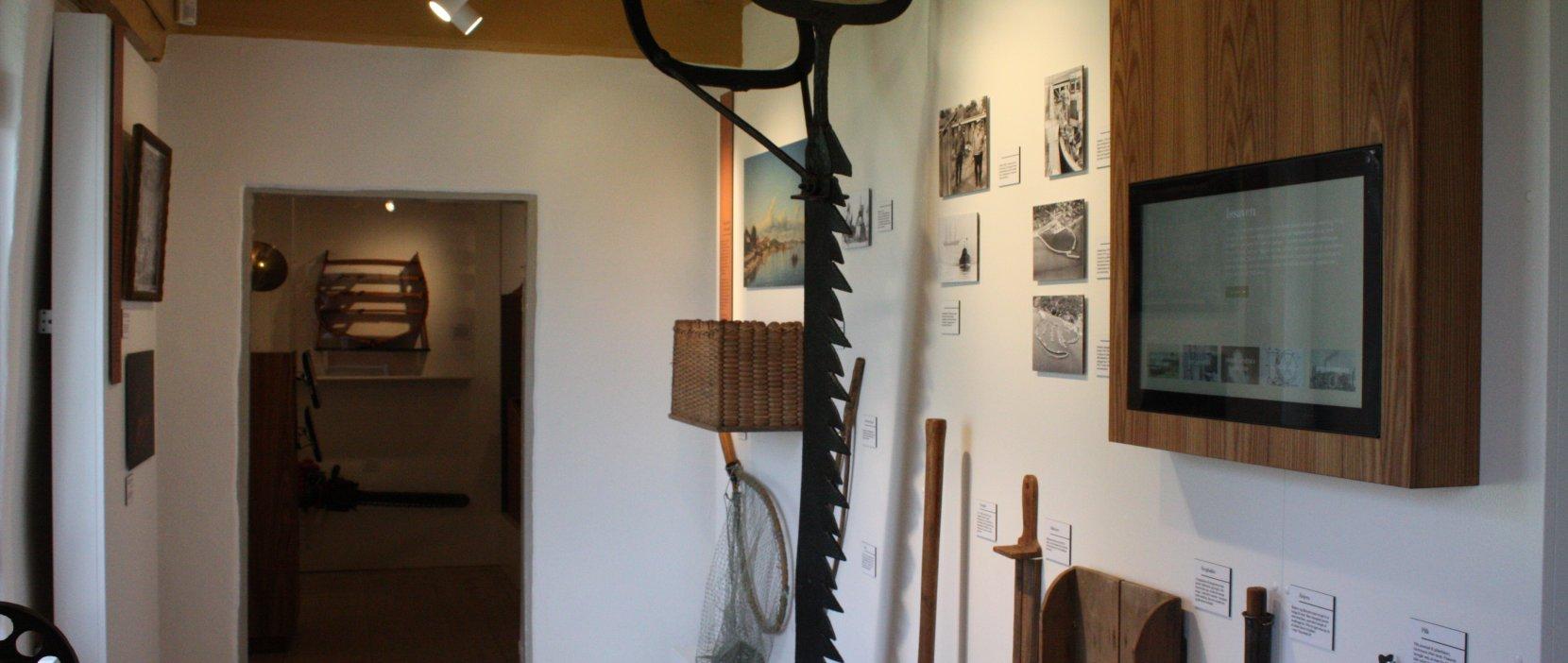 Vandrummet i Mothsgårdens udstilling