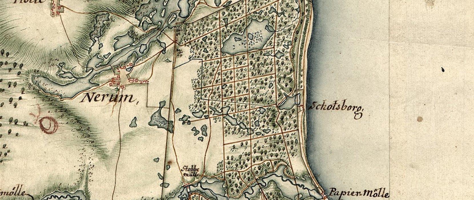 Kort over jægersborg hegn