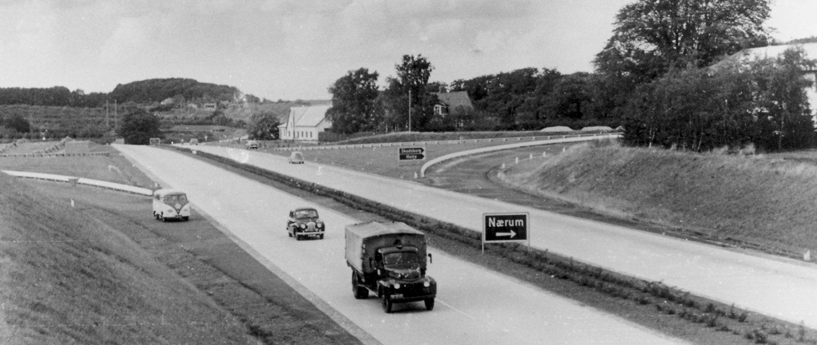 Hørsholmmotorvejen 1956